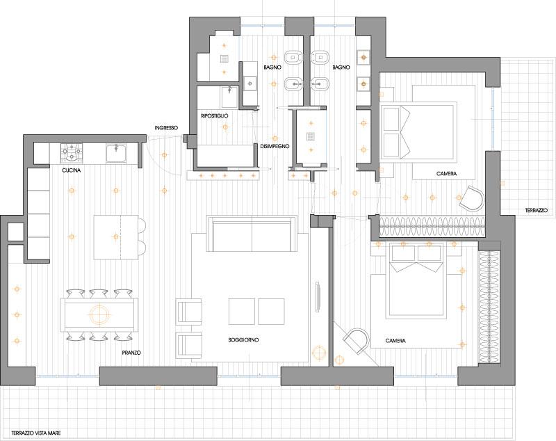 Abitazione g lelisa rizzi architetto for Progetti appartamenti moderni